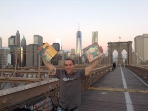 Showing his OTE love on the Brooklyn Bridge!